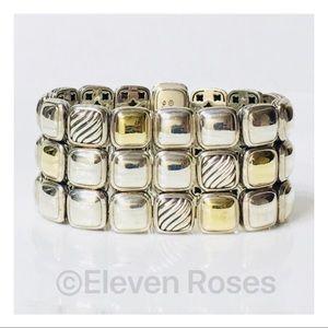 David Yurman Three Row Cushion Chiclet Bracelet
